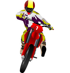 motorcycle on the road biker vector image vector image