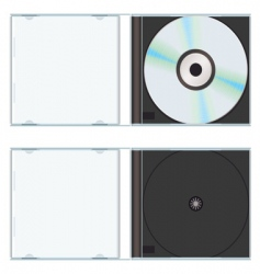 music cd case vector image vector image