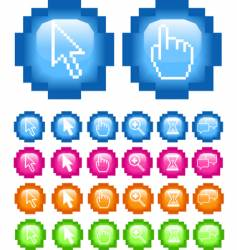 pixel buttons vector image vector image
