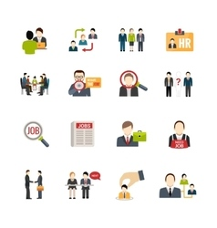 Recruitment Icons Set vector image