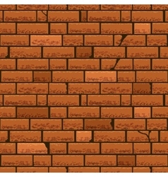 Red brick wall seamless background vector image