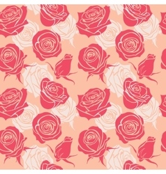 Seamless pattern with roses vintage love abstract vector image vector image