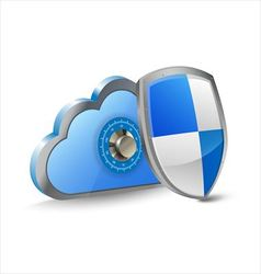 Secure cloud computing vector image vector image