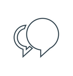 Social chat icon vector