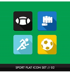 Sports flat icons set vector