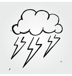 storm cloud hand drawn vector image vector image