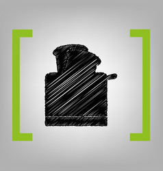 Toaster simple sign black scribble icon vector