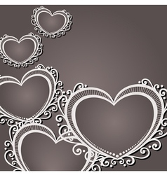 Vintage Card with Heart vector image