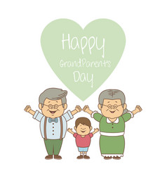 White background with elderly couple and boy with vector