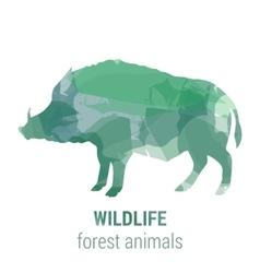 Wildlife banner - forest animals vector image