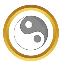 Yin yang sign icon vector