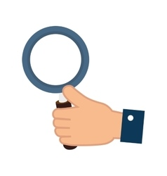 Magnifying glass hand vector