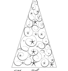 Christms Tree Drawing vector image