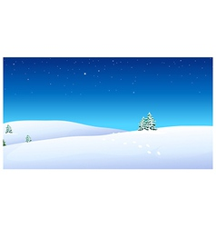 Footprints over snow mountain vector