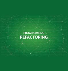 Programming refactoring concept white vector