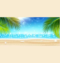 Summer holidays on tropical beach vector