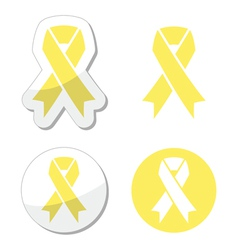 Pale yellow ribbon -ymbol of spina bifida vector image