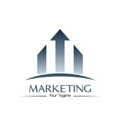 Marketing logo vector image