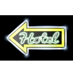 Retro american neon motel roadsign vector