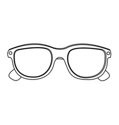3d glasses cinema movie icon vector image vector image