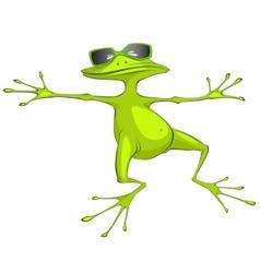 Cartoon character frog vector