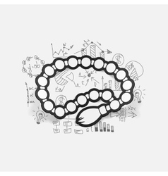Drawing business formulas rosary vector