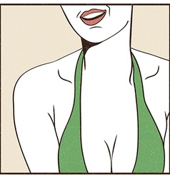 Female sexy breast vector image