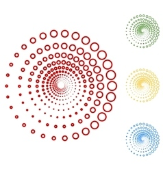Abstract technology circles design element vector