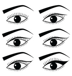 Eye make up with use of eyeliner in asian style vector