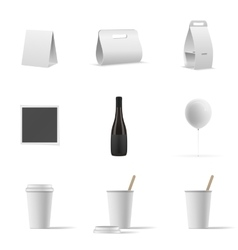 Set of empty mockup objects vector