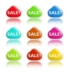 Sale banners shaped as purse vector