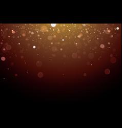 Abstract bokeh light on dark background vector