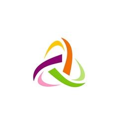 abstract triangle circle technology logo vector image vector image