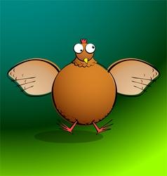 chickensRround Chicken Flappin vector image