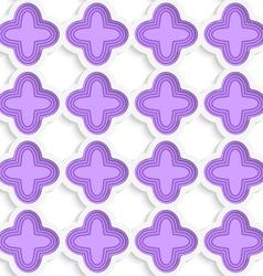 Colored 3D purple striped four foils vector image vector image