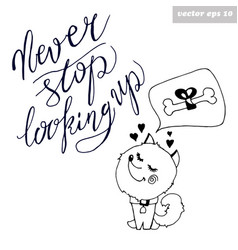 Dog with quote vector