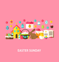 Easter sunday greeting card vector