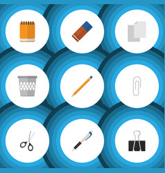 flat icon tool set of drawing tool sheets rubber vector image vector image