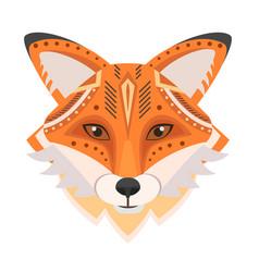 fox head logo decorative emblem vector image vector image