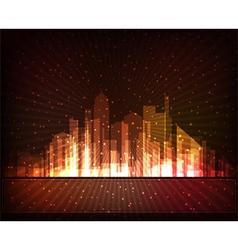 Futuristic city vector