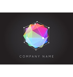 Geometric Shapes Unusual and Abstract Logo vector image