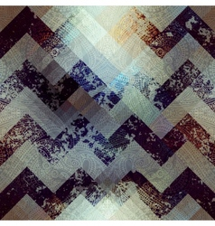 Grunge chevron on pixel backgrouns vector