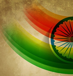 grunge style indian flag vector image vector image