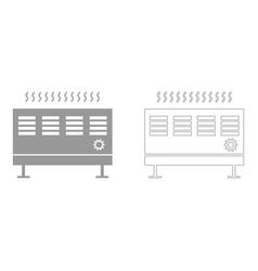 Heat con set icon vector