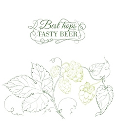 Hop and tasty beer sign over white vector