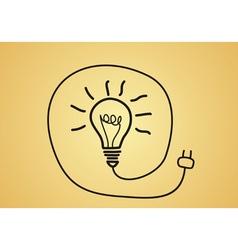 idea concept - sketch bulb vector image vector image