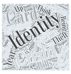 Identity theft victims word cloud concept vector
