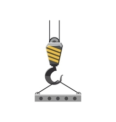 Industrial hook with reinforced concrete slab icon vector