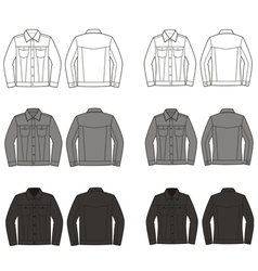 Jeans jackets vector