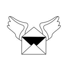 Letter heart silhouette vector